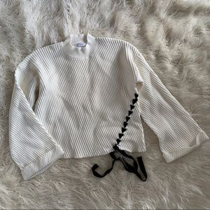 FATE Oversized Cropped Wide Knit Sweater Size M